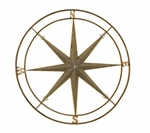 3D Distressed Gun Metal Silver Compass 27''H Wall Decor - Copper [2164-FS-PAS]