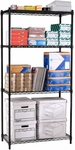 72'' H x 48'' W x 18'' D Complete 4-Shelf Unit -Black [S487218-BLK-MFO]