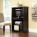 Wooden 52''H Computer Armoire with Wrap-Around Doors - Cinnamon Cherry [411614-FS-SRTA]