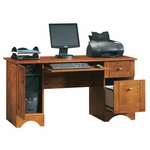 Wooden 59.5''W x 29''H Rectangular Computer Desk with Sliding Keyboard Shelf - Maple [402375-FS-SRTA]