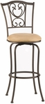 Concord Metal 30'' Bar Height Stool with Buckskin Faux Suede Swivel Seat - Brown [4120-831-FS-HILL]