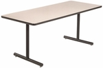 High Pressure Laminate Top Conference/Classroom Table with 1 - 1/4'' Thick Particleboard Core and T - Legs - 30''W x 60''D x 29''H [LT305D-AMTB]