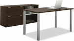 Contempo Executive Desk Kit with Scratch and Stain Resistant Finish - Tuxedo [50854-78-FS-BS]