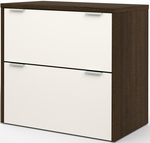 Contempo Lateral File with Scratch and Stain Resistant Finish - Tuxedo and Sandstone [50630-60-FS-BS]