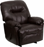 Contemporary Bentley Brown Leather Chaise Rocker Recliner [AM-C9350-9075-GG]