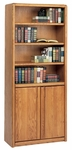 Contemporary Collection 30''W x 70''H Bookcase with Lower Doors - Medium Oak [03070D-FS-KIMF]