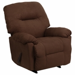 Contemporary Calcutta Chocolate Microfiber Chaise Rocker Recliner [AM-C9350-2550-GG]