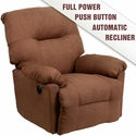 Contemporary Calcutta Chocolate Microfiber Power Chaise Recliner