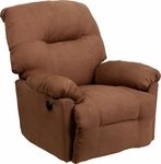Contemporary Calcutta Chocolate Microfiber Power Chaise Recliner with Push Button [AM-CP9350-2550-GG]