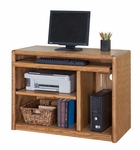Contemporary Collection 37.5''W x 28.75''H Computer Cart - Medium Oak [00110-FS-KIMF]