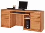 Contemporary Collection 68.25''W x 29''H Computer Credenza - Medium Oak [00689-FS-KIMF]