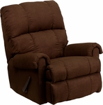 Contemporary Flatsuede Chocolate Microfiber Rocker Recliner [WM-8700-112-GG]