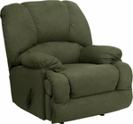 Contemporary Glacier Olive Microfiber Chaise Rocker Recliner [AM-C9700-7903-GG]