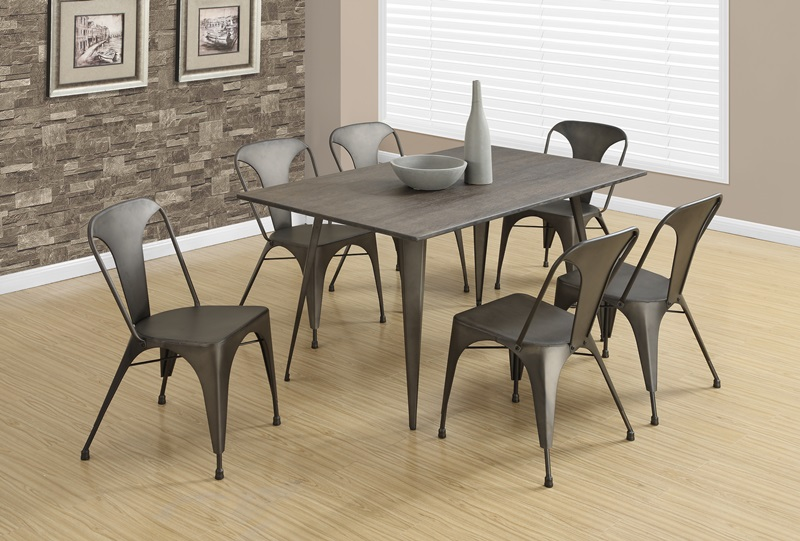Contemporary Industrial 33H Metal Bistro Dining Chair Set of 2 – Bistro Dining Chair