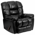 Contemporary New Era Black Leather Chaise Rocker Recliner [AM-9550-4801-GG]