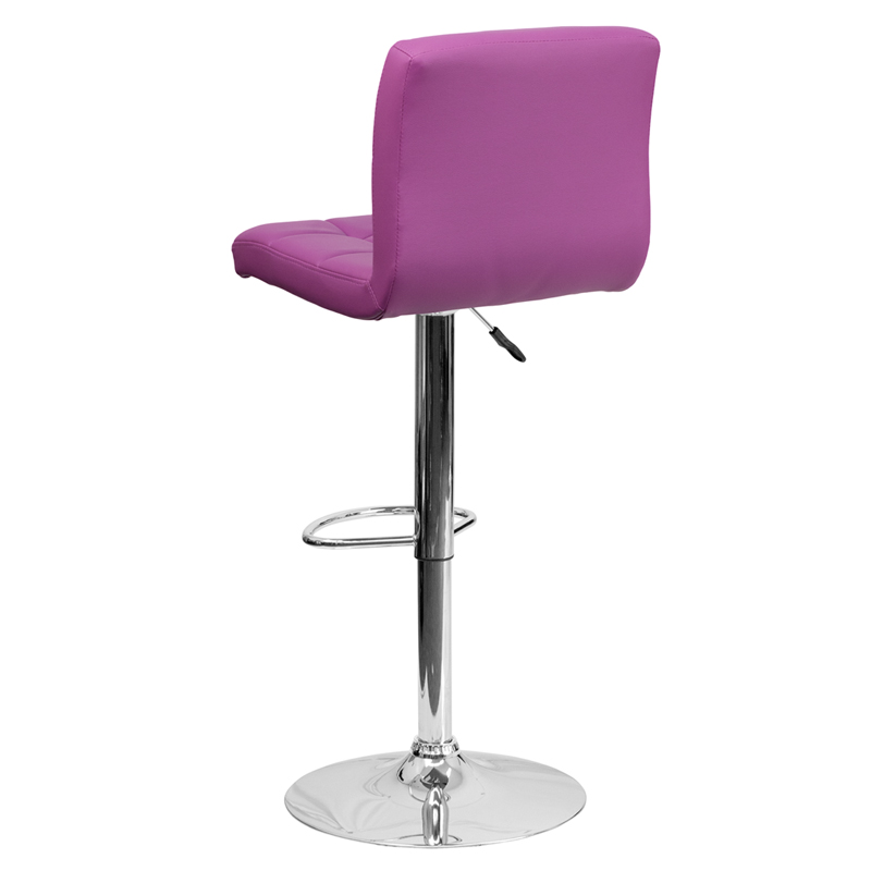Contemporary Purple Quilted Vinyl Adjustable Height  : contemporary purple quilted vinyl adjustable height bar stool with chrome base ds 810 mod pur gg 26 from www.bizchair.com size 800 x 800 jpeg 74kB
