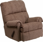 Contemporary Tahoe Bark Chenille Rocker Recliner [WM-8700-210-GG]