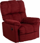 Contemporary Top Hat Berry Microfiber Power Recliner with Push Button [AM-P9320-4170-GG]