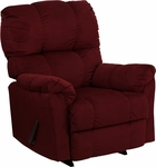 Contemporary Top Hat Berry Microfiber Rocker Recliner [AM-9320-4170-GG]