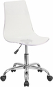 Contemporary Transparent Acrylic Task Chair with Chrome Base