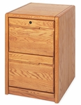 Contemporary Collection 20.75''W x 29''H Two Drawer File - Medium Oak [00201-FS-KIMF]
