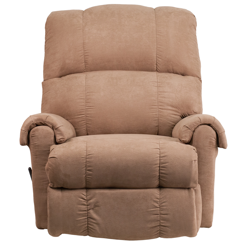 Contemporary Victory Lane Taupe Fabric Rocker Recliner Wm