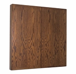 Contemporary Walnut Conference Cabinet - 48''H x 48''W [HC-404-D-MSH]