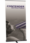 Contender Retractable Banner Stand 30''W [CN-30-B-FS-OR]
