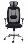 Contour Height Adjustable Office Chair with 5 Star Base and Casters - Black [18625-FS-SDI]