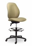 Contour II 300 Series Medium Single Shift Adjustable Swivel and Seat Height Stool [CO221-M20-FS-SEA]