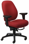 Contour II 400 Series Medium Back Mutliple Shift Adjustable Swivel and Seat Height Task Chair [CO311-Q30-FS-SEA]