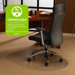 49''W x 39''L Cleartex Ultimat Polycarbonate Contoured Chairmat for Low and Medium Pile Carpets up to 1/2'' [119923SR-FS-FTX]