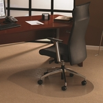 49''W x 39''L Cleartex Ultimat Polycarbonate Contoured Chairmat for Low and Medium Pile Carpets up to .5'' [119923SR-FS-FTX]