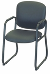 Bayshore Sled Base Guest Chair with Padded Arms - Black Base [E-22520-SB-FS-EOF]