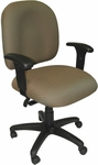 Palisades 24'' W x 22'' D x 35.5'' H Adjustable Height and Width Mid-Back Chair with Deluxe Control [E-50152-FS-EOF]