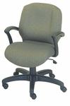 Zoey 26'' W x 22'' D x 32'' H Adjustable Height Mid-Back Chair with Tilt Lock Control [E-46951-FS-EOF]