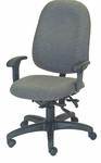 Stratus 24.5'' W x 22'' D x 44'' H Adjustable Height and Width High-Back Chair with Executive Control [E-31784V-FS-EOF]