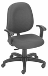 Stratus 24.5'' W x 22'' D x 40'' H Adjustable Height and Width Mid-Back Chair [E-31751V-FS-EOF]