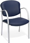Danbelle Anti-Microbial and Anti-Bacterial Vinyl Contract Reception Chair - Navy [414-VAM-605-FS-MFO]