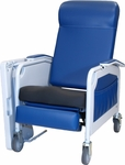 Convalescent Recliner with Saddle Seat - No Tray - 3 Position [526S-FS-WIN]