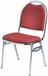 Convention Stacker Half Moon Back with Chrome Finish Chair [676-MTS]