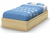 Cookie Collection Twin Mates Bed (39'') Champagne