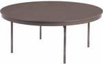 Core-a-Gator Lightweight Plastic Top Round Folding Table -72'' Diameter x 29''H [6172R-VCO]
