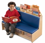 Multi-Functional Corner Literacy Nook with Seating and Book Storage [53410JC-JON]