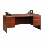 Cornerstone 70''W x 30''H Wooden Executive Desk with 2 Locking Drawers - Classic Cherry [404972-FS-SRTA]