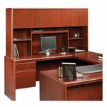 Cornerstone 68''W x 36''H Wooden Hutch with 2 Adjustable Shelves - Classic Cherry [404999-FS-SRTA]