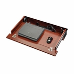 Cornerstone 29.5''W x 4.75''H Wooden Laptop Drawer with Flip-Down Front and Power Strip - Classic Cherry [404943-FS-SRTA]