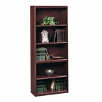 Cornerstone 29''W x 72''H Wooden Bookcase with 3 Adjustable Shelves - Classic Cherry [107395-FS-SRTA]
