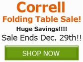 Correll Color Folding Table Sale!! Save Now!!