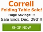 Correll Color Folding Table Sale!! Save by
